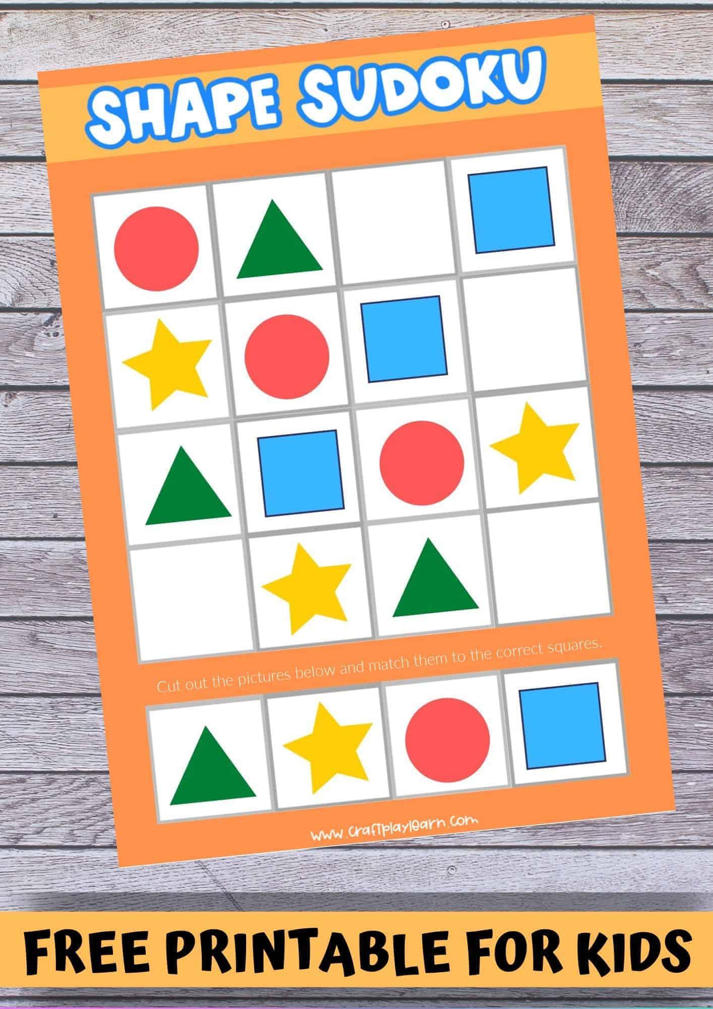 shape sudoku for kids
