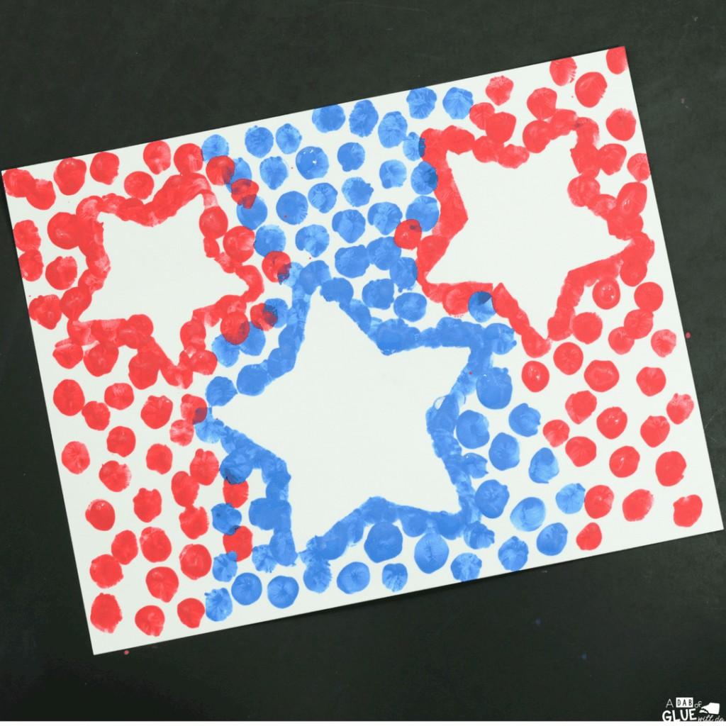 4th of july thumbprint craft