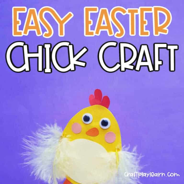 easy easter chick craft