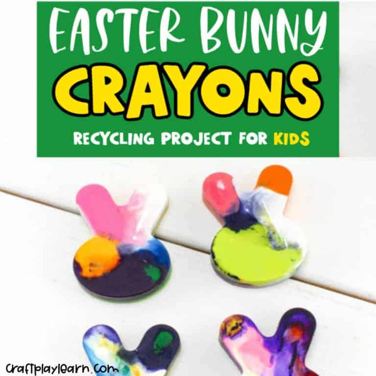 bunny crayons project for kids