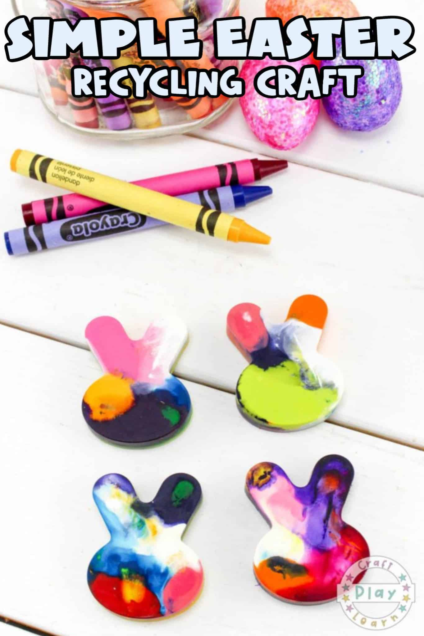 easter crayon recycling