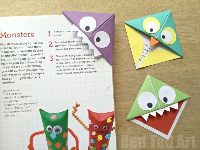 Easy Origami Bookmark Corner - How to make a Corner Bookmark DIY ... | 518x690