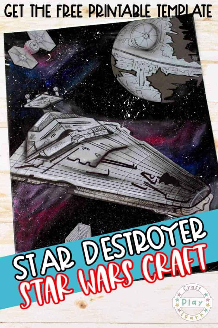 star wars star destroyer art project for kids
