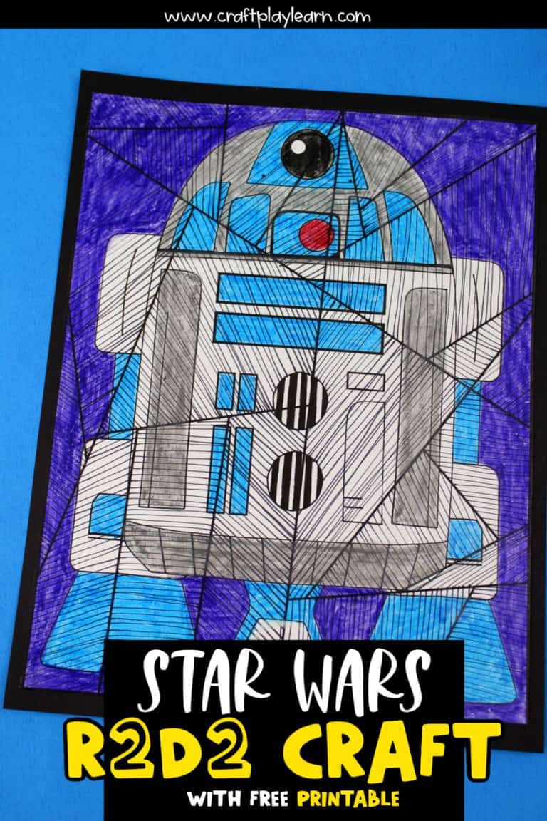 r2d2 line study for kids