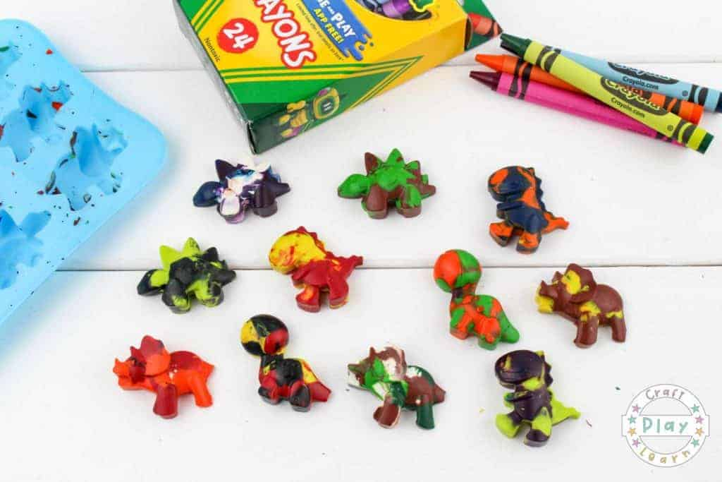 recycled crayon craft for kids