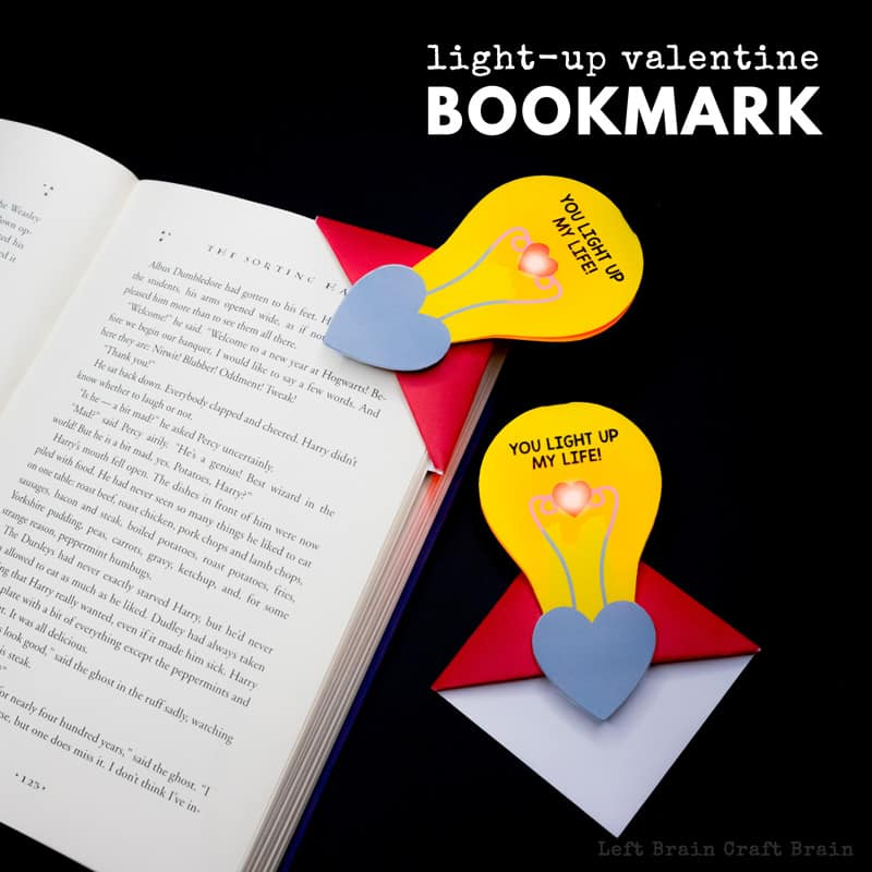 light bulb corner bookmark