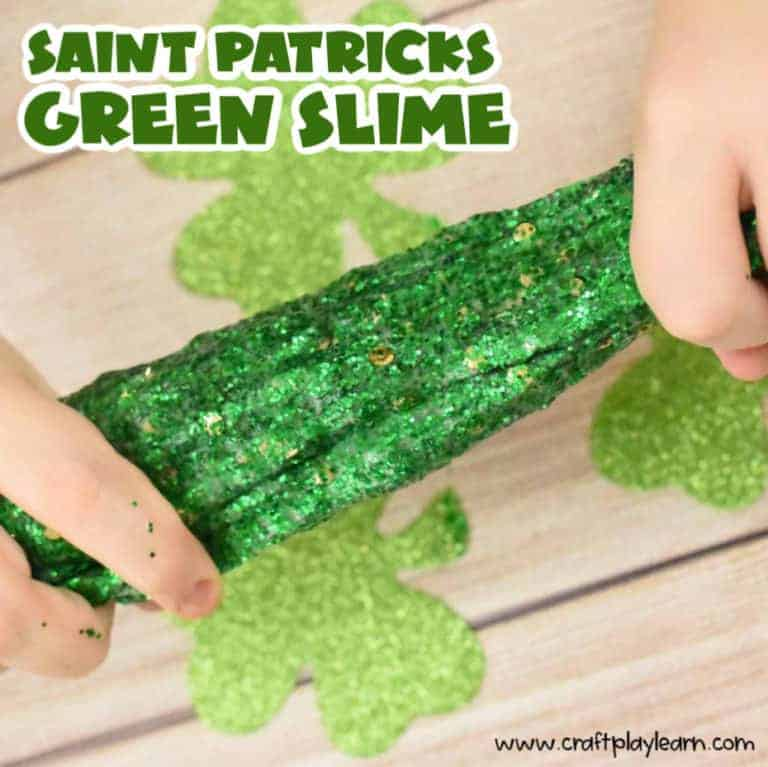 saint patricks day slime recipe