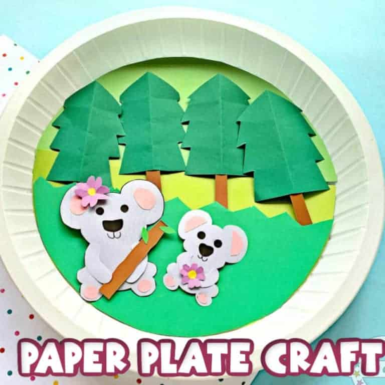 paper plate koala bear craft