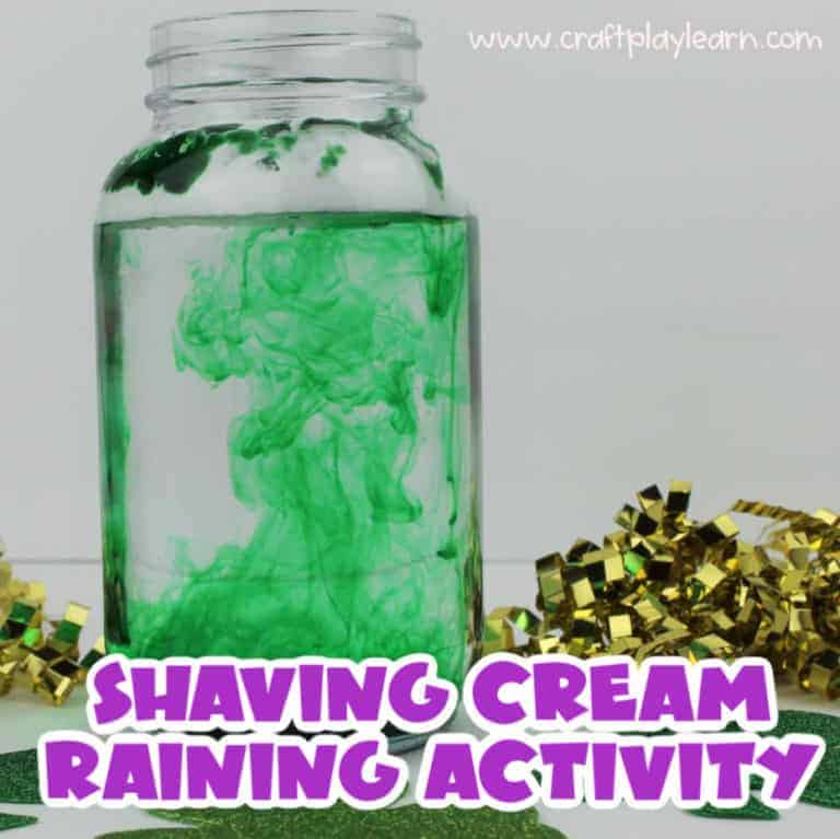 mixing green dye with shaving foam