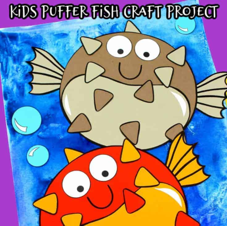 pufferfish paper craft for kids