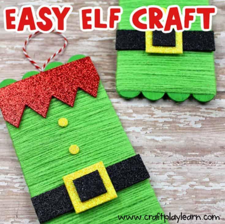 popsicle stick elf craft