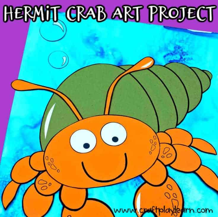 how to make a hermit crab craft with kids