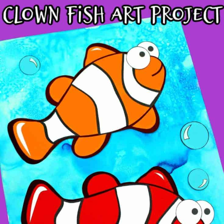 making a diy clownfish with kids