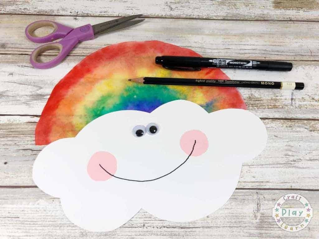 making a rainbow craft