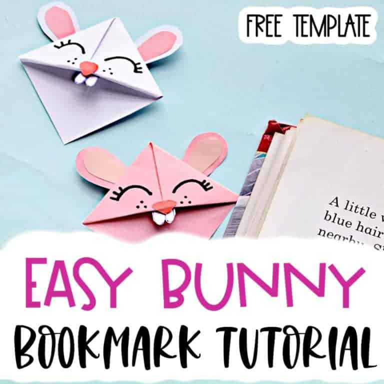 easy bunny origami corner bookmark
