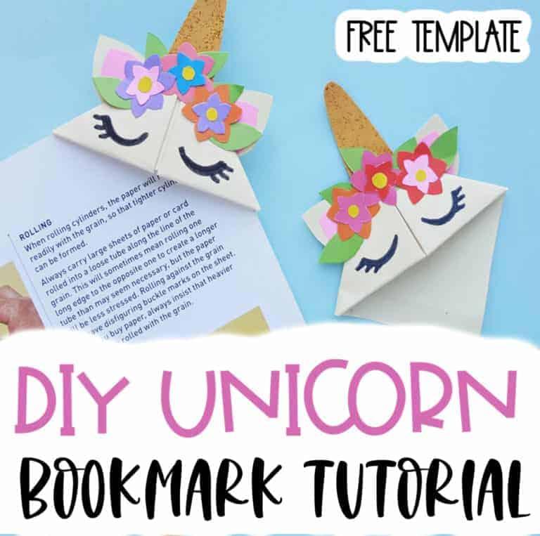 diy unicorn bookmark tutorial