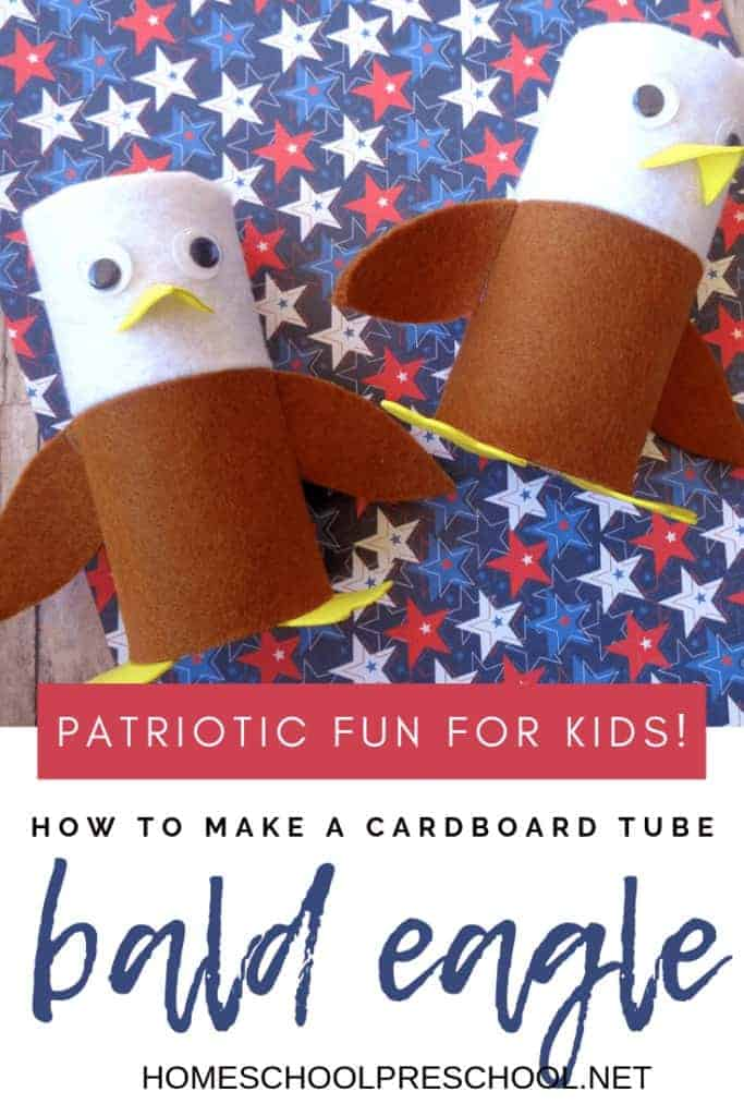 bald eagle toilet roll craft