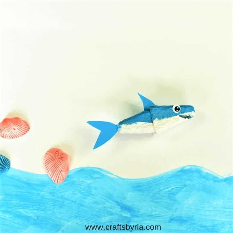 egg carton shark