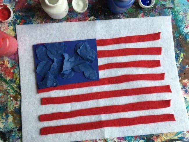 felt flag art