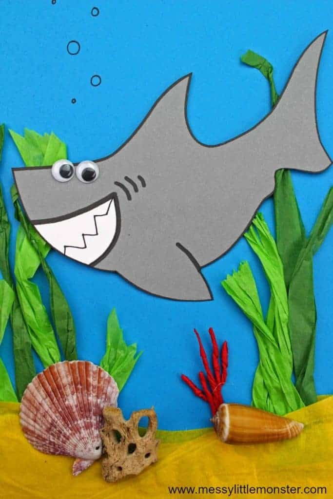 mixed media shark craft