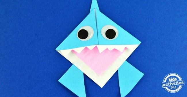origami shark corner bookmark