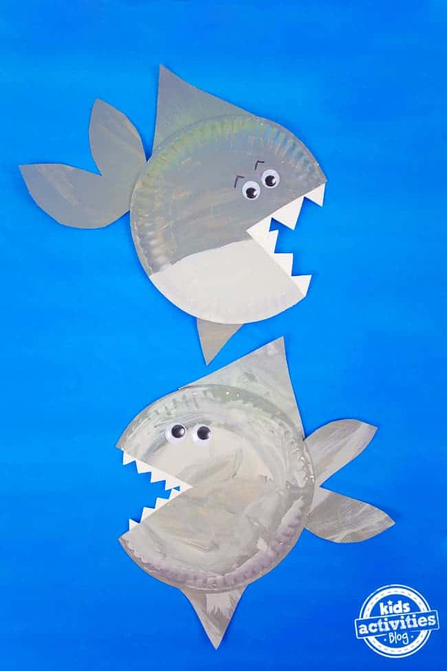 paper plate sharks