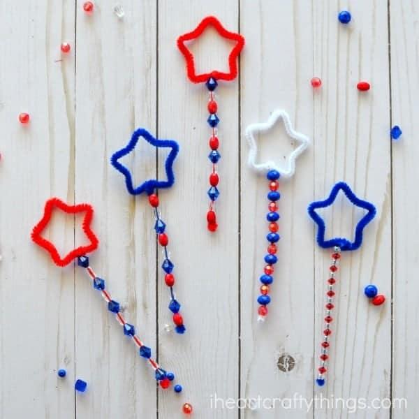 patriotic bubble wands