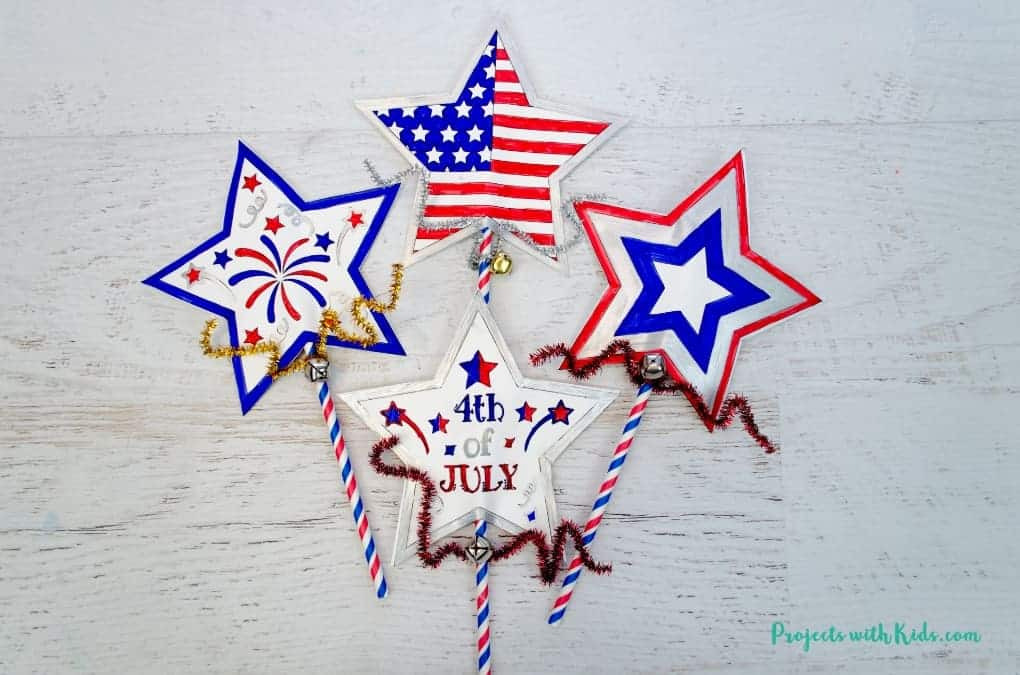 printable 4th of july wands