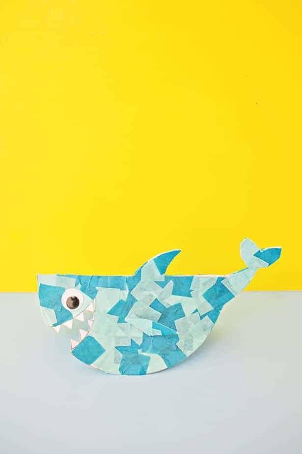 rocking paper shark craft