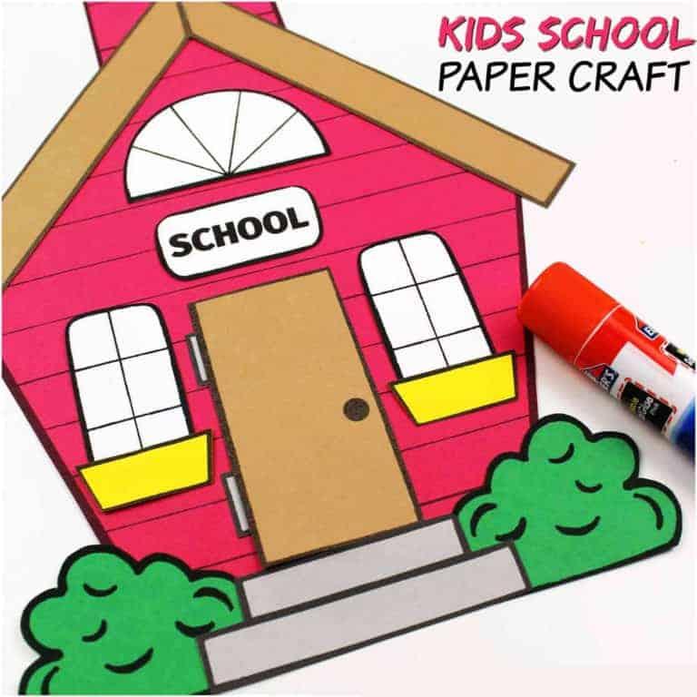 school house paper craft