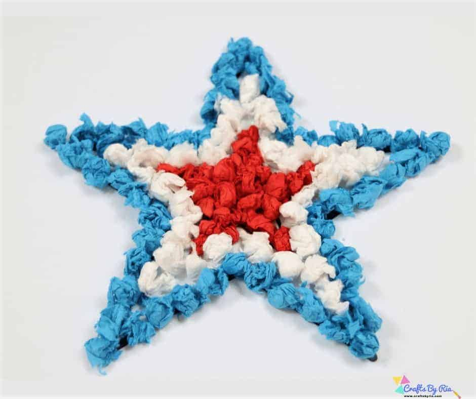 scrunched tissue paper star