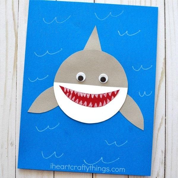 shark week simple paper craft