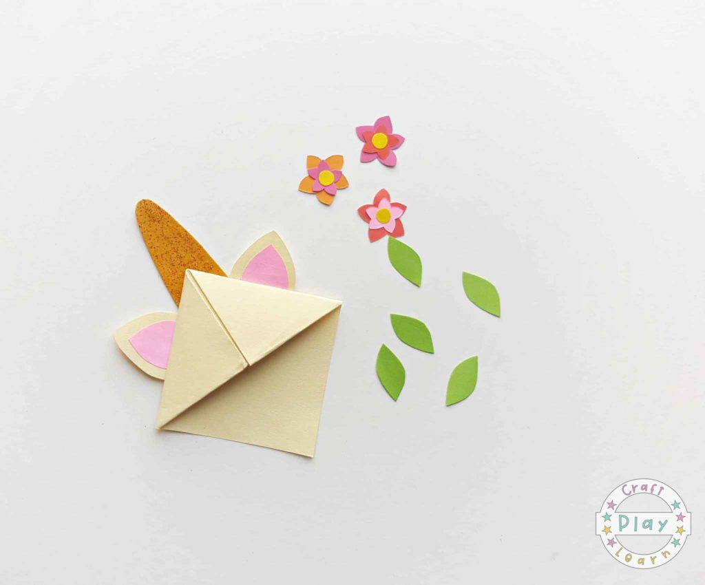 Easy ORIGAMI Paper Flower BOOKMARK Tutorial || Paper Crafts - YouTube | 850x1024