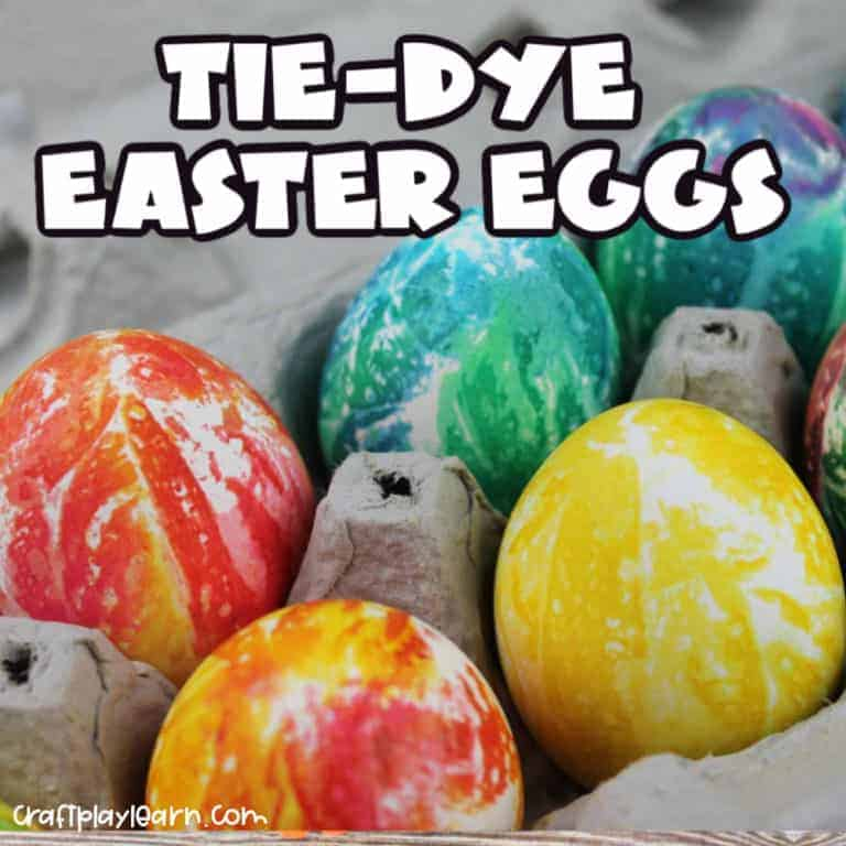 tye dye easter egg painting for kids