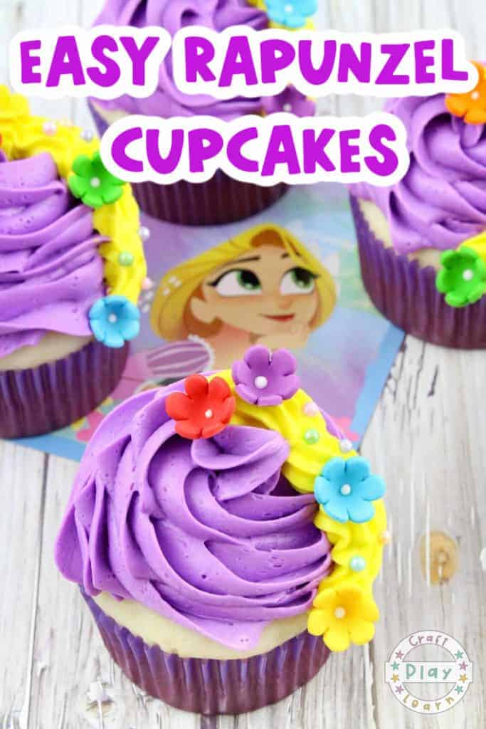 rapunzel cupcakes for kids party