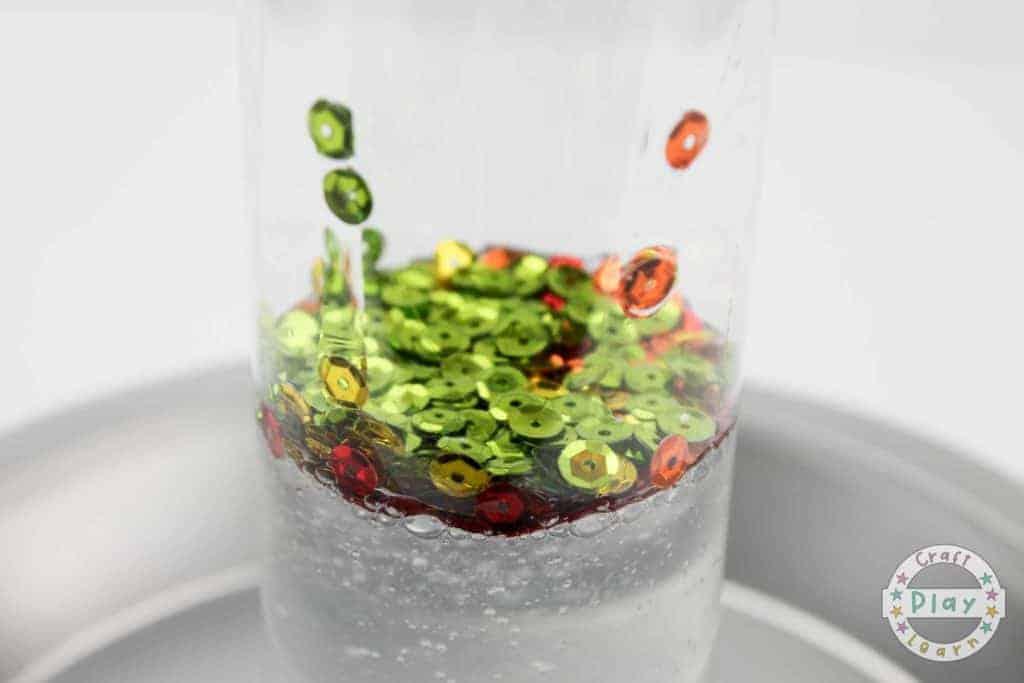rainbow sensory bottle