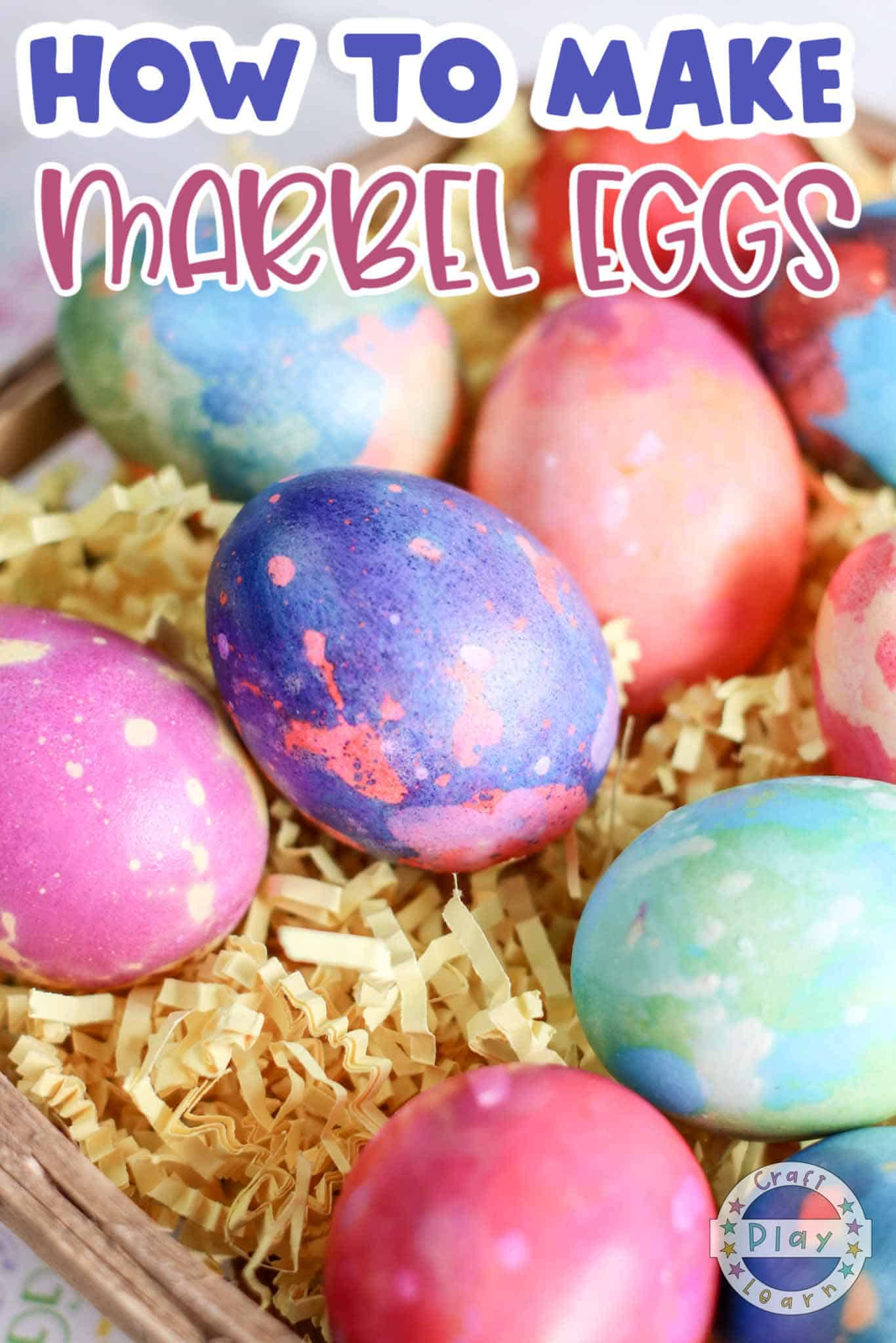 marbled eggs craft