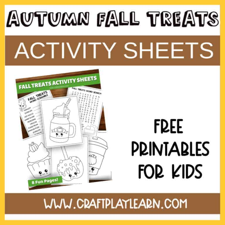 autumn fall activity sheets for kids