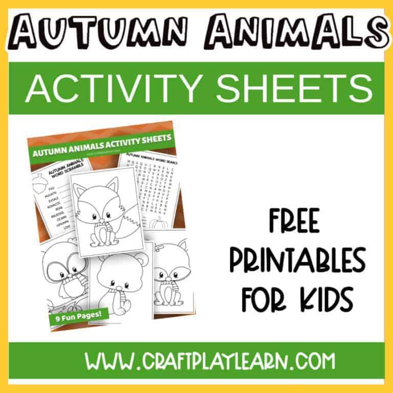 aUTUMN ANIMALS ACTIVITY SHEETS