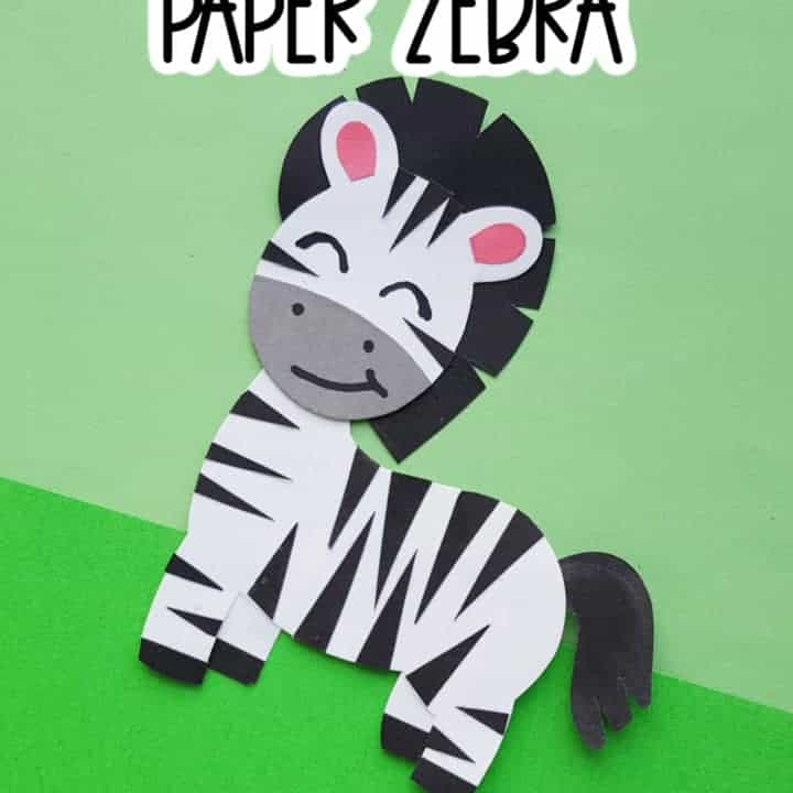 zebra craft for kids
