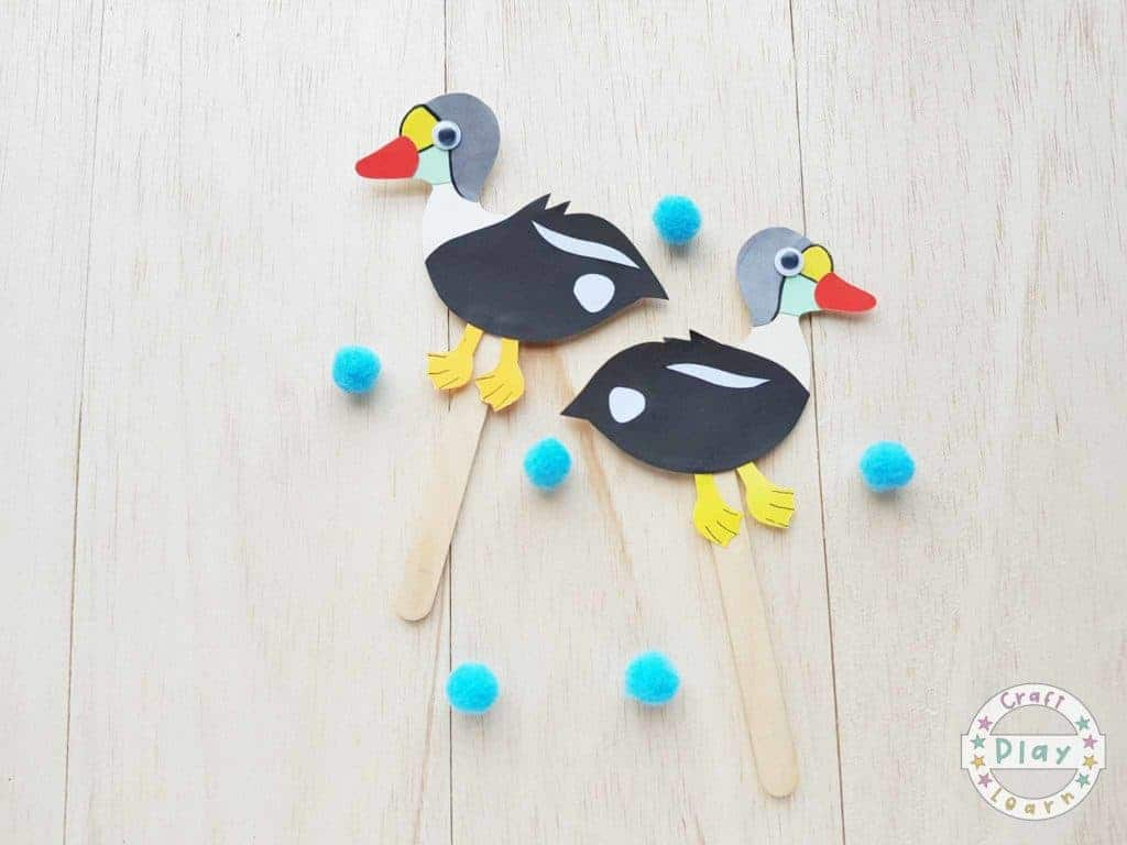 paper duck craft for kids