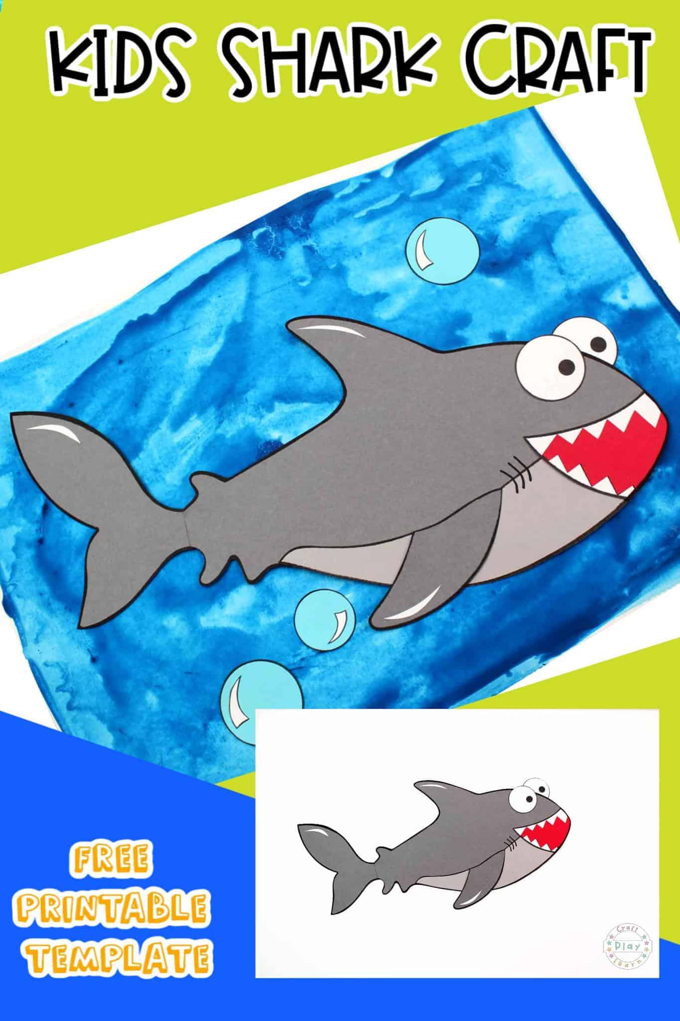 white shark craft for kids