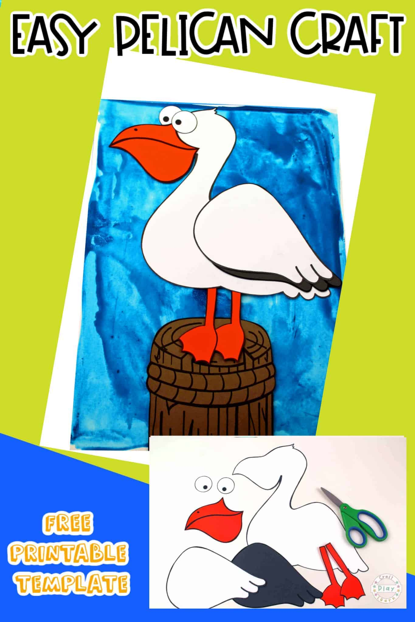 DIY Pelican Paper Craft