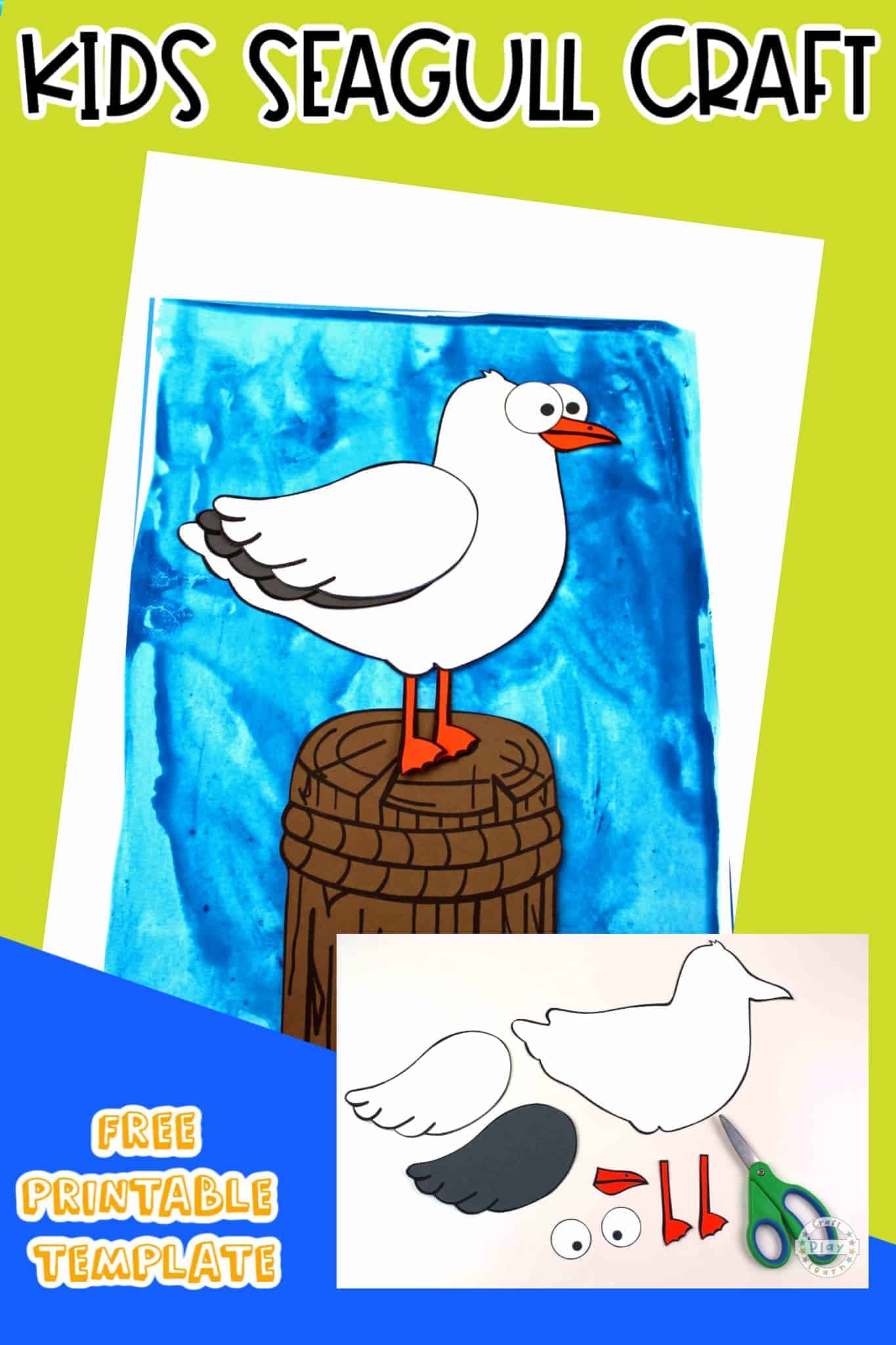 seagull craft for kids
