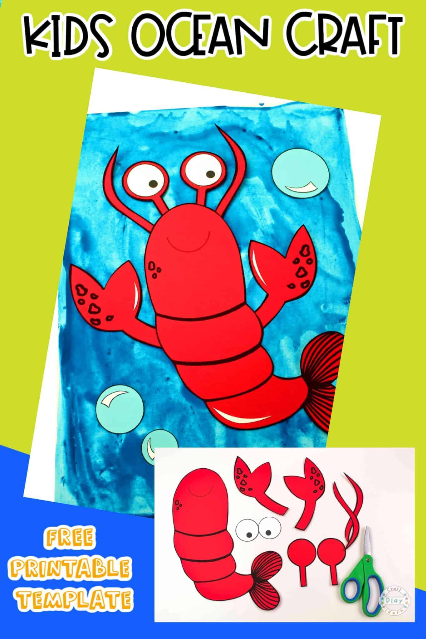 kids lobster craft