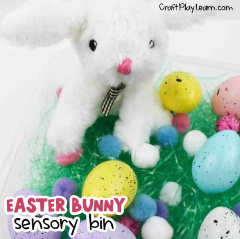 easter sensory bin activity