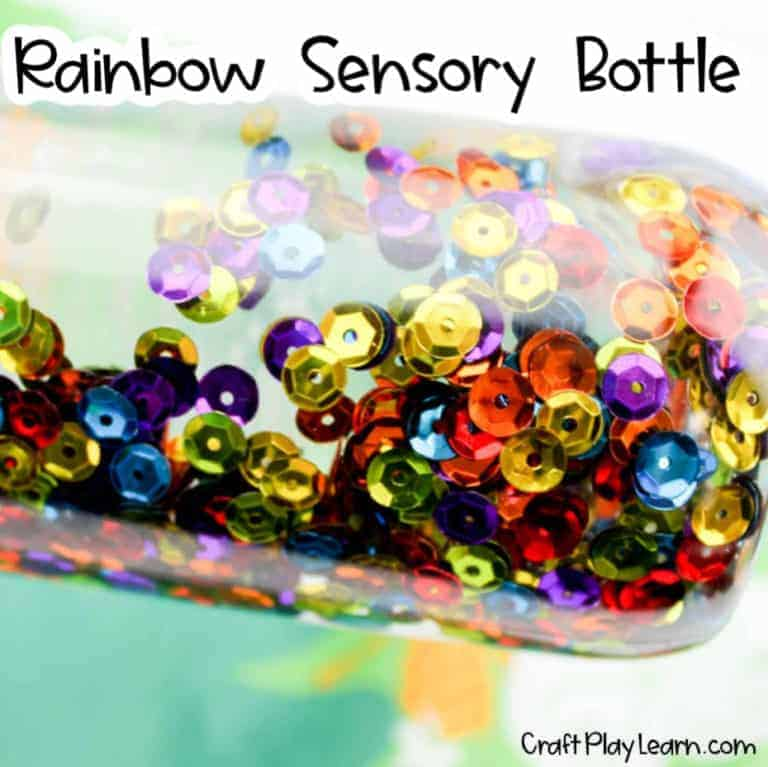 rainbow sensory bottle