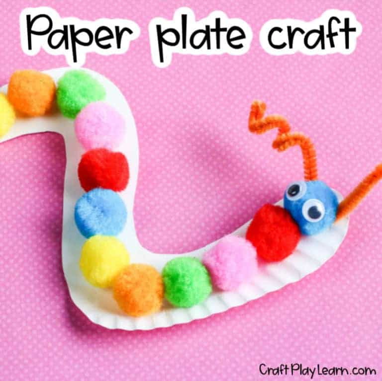 Paper Plate Caterpillar Craft For Toddlers