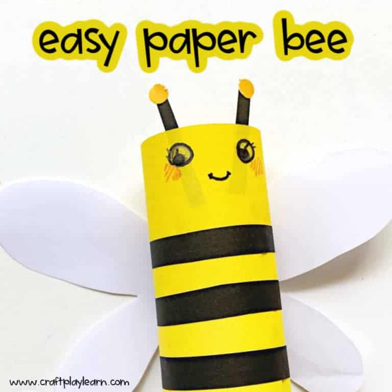paper bee craft for kids