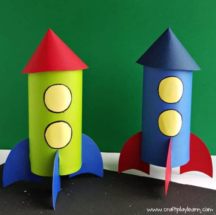 kids homemade rocket craft